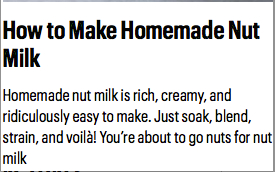 Omega 3 - How to make Nut milk