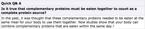 About COMPLETE PROTEINS