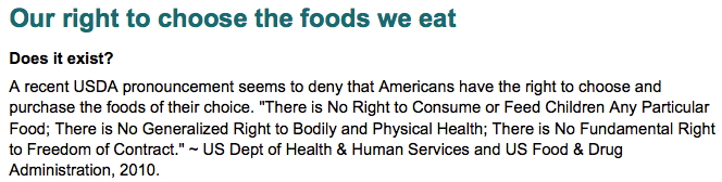 Our right to choose the foods we eat - DOES IT EXIST?