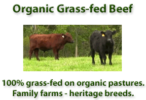 REAL ORGANIC GRASS-FED BEEF –  Grass-fed Beef Griller's Package Special Price!  Retail: $112.95 Now: $67.75 – approx. 10.25 lbs.